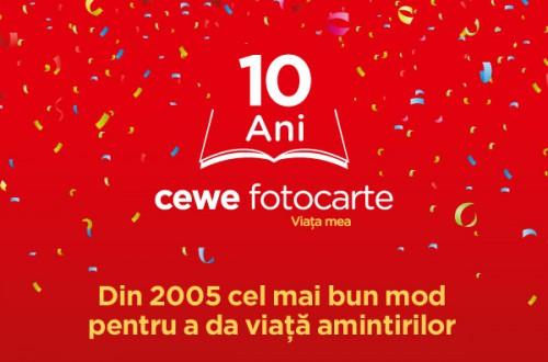 Jubileu de 10 ani- Sărbătorim aniversarea CEWE FOTOCARTE de 10 ani!